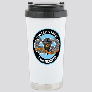 US Combat Paratrooper Stainless Steel Travel Mug