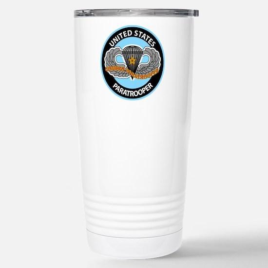 US Combat Paratrooper Stainless Steel Travel Mug