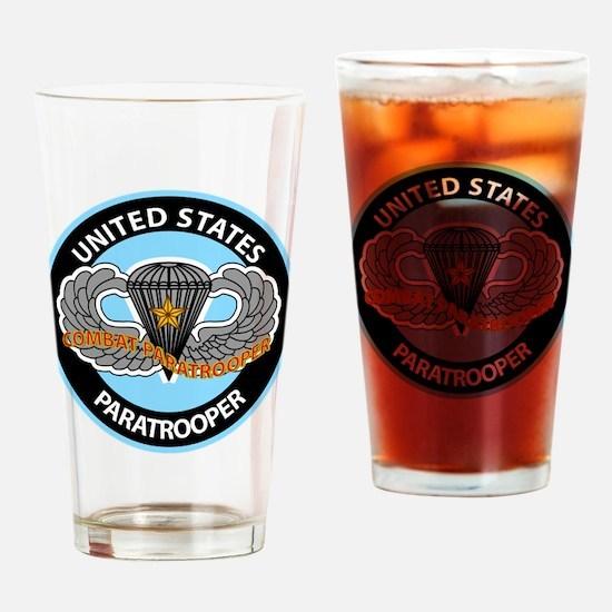US Combat Paratrooper Drinking Glass