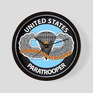 US Combat Paratrooper Wall Clock