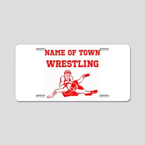 Wrestling Aluminum License Plate