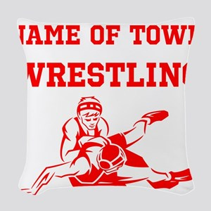 Wrestling Woven Throw Pillow