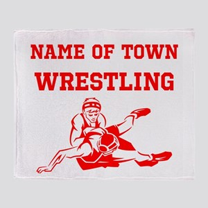 Wrestling Throw Blanket