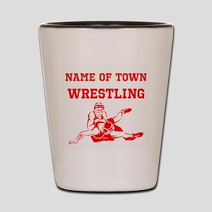 Wrestling Shot Glass