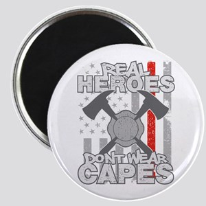 Firefighter Real Heroes Don't Wear Capes Magnet