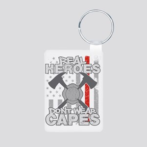 Firefighter Real Heroes Do Aluminum Photo Keychain