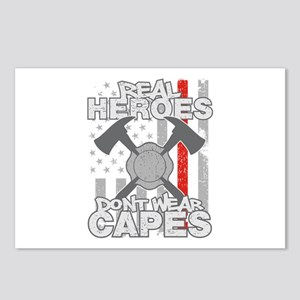 Firefighter Real Heroes D Postcards (Package of 8)