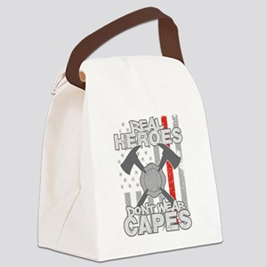 Firefighter Real Heroes Don't Wea Canvas Lunch Bag