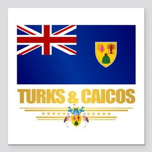 "Turks and Caicos Square Car Magnet 3"" x 3"""