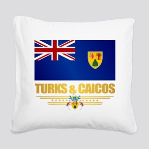 Turks and Caicos Square Canvas Pillow