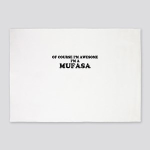 Of course I'm Awesome, Im MUFASA 5'x7'Area Rug
