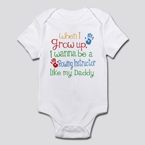 Rowing Instructor Like Daddy Infant Bodysuit
