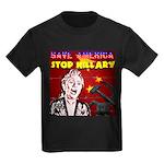 Stop Hillary! Kids Dark T-Shirt