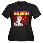 Stop Hillary! Women's Plus Size V-Neck Dark T-Shir