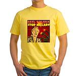 Stop Hillary! Yellow T-Shirt