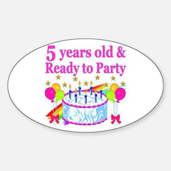 5TH BIRTHDAY Sticker (Oval)