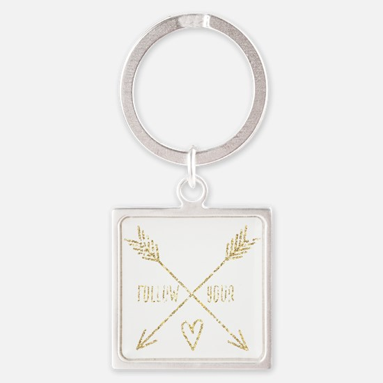 Cute Peace sayings Square Keychain