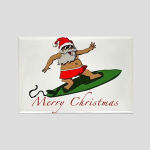 Santa Rectangle Magnet