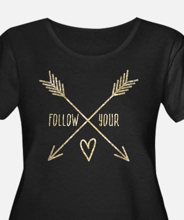 Follow Your Heart Plus Size T-Shirt