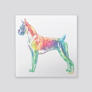 Boxer Color Splash Sticker