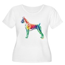 Boxer Color Splash Plus Size T-Shirt