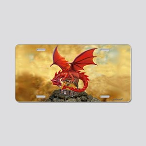 Red Dragon's Treasure Chest Aluminum License Plate