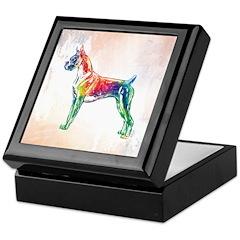 Boxer Color Splash Keepsake Box