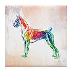 Boxer Color Splash Tile Coaster