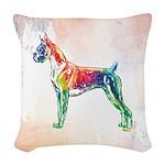 Boxer Color Splash Woven Throw Pillow