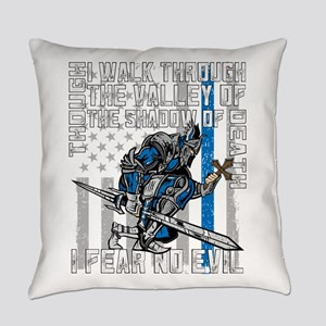 I Fear No Evil Police Crusader Everyday Pillow