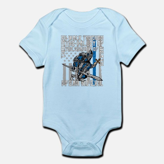 I Fear No Evil Police Crusader Infant Bodysuit