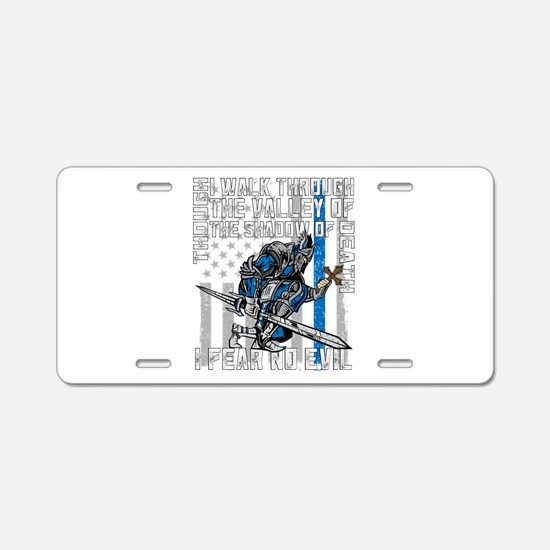 I Fear No Evil Police Crusa Aluminum License Plate