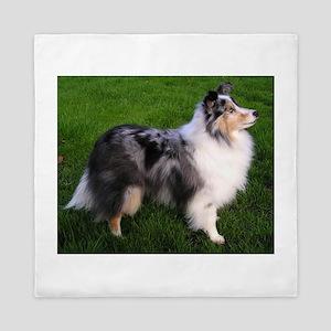 shetland sheepdog full 2 Queen Duvet