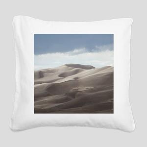 Sand Dunes Square Canvas Pillow
