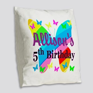 PERSONALIZED 5TH Burlap Throw Pillow