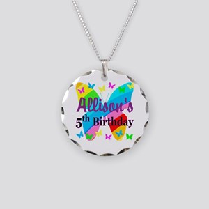 PERSONALIZED 5TH Necklace Circle Charm