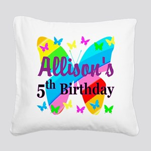 PERSONALIZED 5TH Square Canvas Pillow