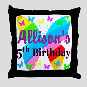 PERSONALIZED 5TH Throw Pillow