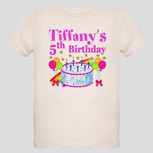 PERSONALIZED 5TH Organic Kids T Shirt
