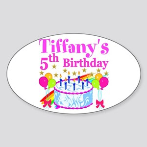PERSONALIZED 5TH Sticker (Oval)
