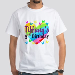 PERSONALIZED 5TH White T-Shirt