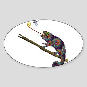 Beaded Chameleon on Branch Sticker