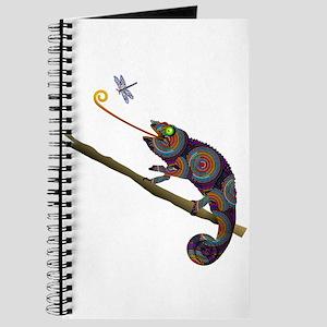 Beaded Chameleon on Branch Journal