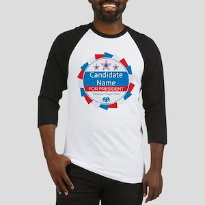 Candidate and Slogan Personalized Baseball Jersey