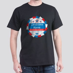 Candidate and Slogan Personalized Dark T-Shirt