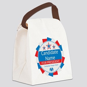 Candidate and Slogan Personalized Canvas Lunch Bag
