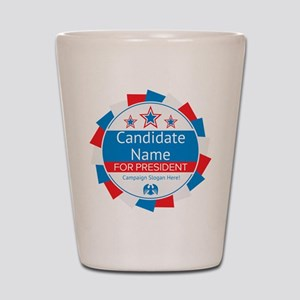 Candidate and Slogan Personalized Shot Glass