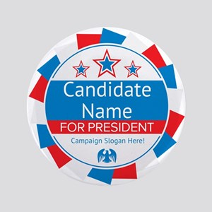 Candidate and Slogan Personalized Button