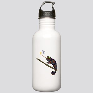 Beaded Chameleon on Br Stainless Water Bottle 1.0L