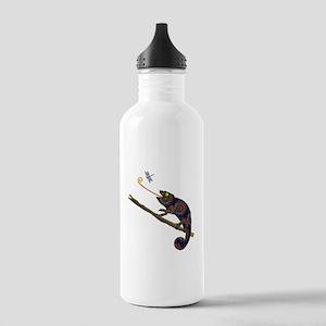 Beaded Chameleon on Br Stainless Water Bottle 1.0L